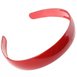 Red Plastic Wide Hairband - 10 per pack - Pritti Design